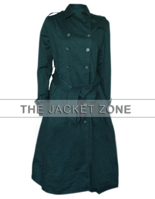 Rebecca Ferguson Green Trench Coat