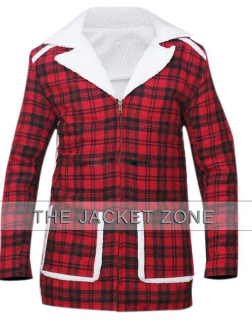 Ryan Reynolds Red Shearling Deadpool Jacket