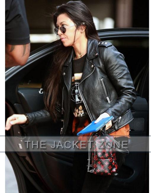 Kourtney Kardashian Works out Jacket