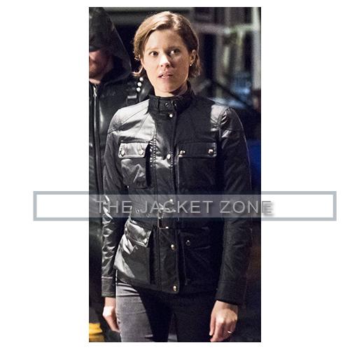 Lyla Michaels Arrow Black Waxed Jacket