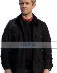 sherlock holmes dr watson black shooting jacket coat