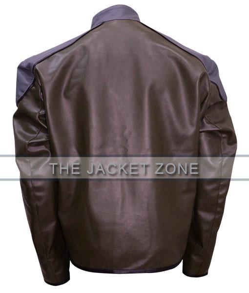 Black Adam Injustice Grey Leather Jacket