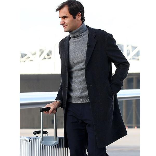 Roger Federer Wool Coat Jacket